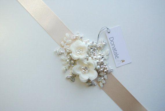 Ivory Bridal Sash Wedding Belt Wedding dress belts and sashes ...