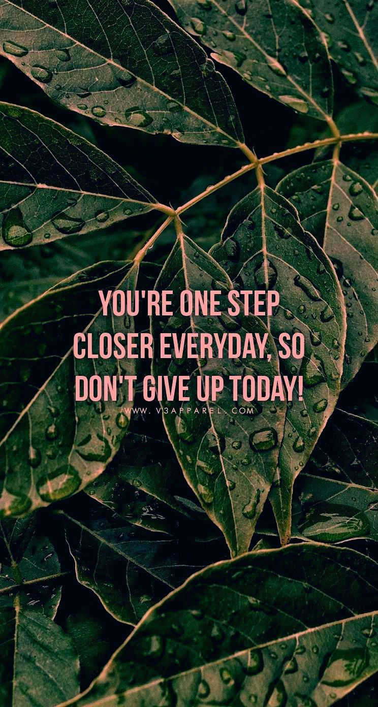 You're one step closer everyday, so don't give up today!  Head over to www.V3Apparel.com/MadeToMotiv...
