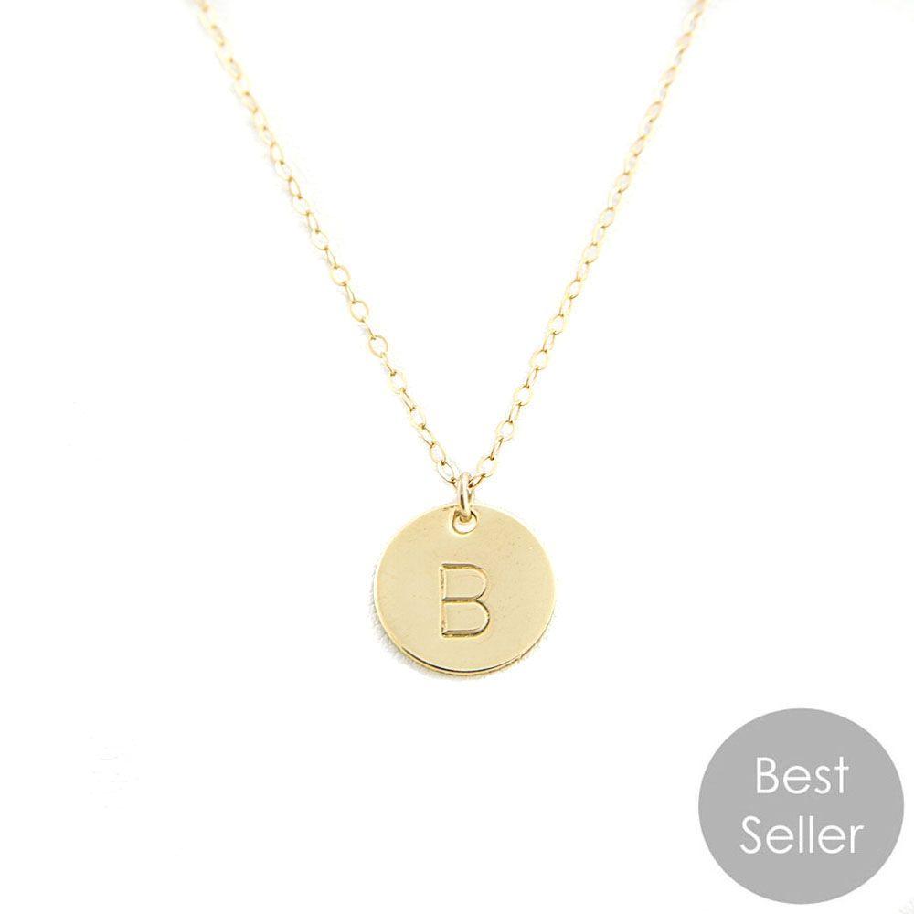 IVJewelry Monogram Coin Necklace