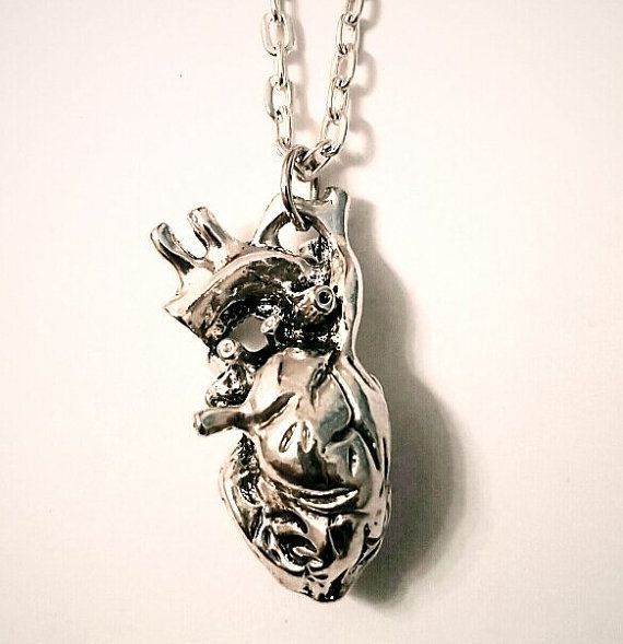 Anatomical Heart Necklace Anatomy Pendant by TheFangirlsAttic | All ...