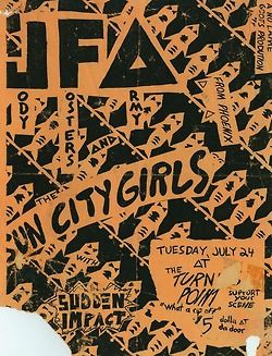 Old Punk Flyers  Poster for decoration