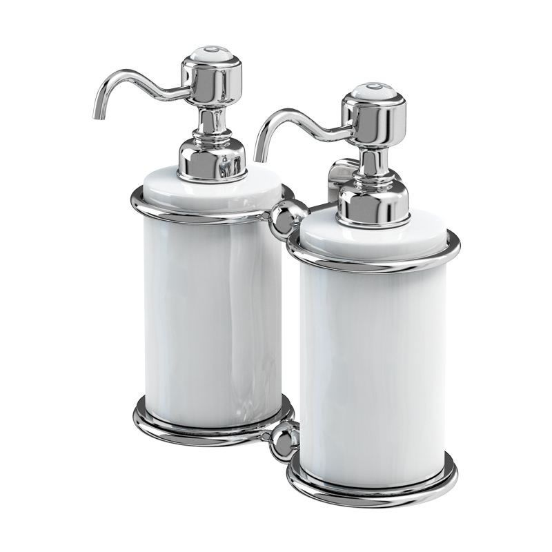 Complete The Look Of Your Period Bathroom With Stylish Double Soap Dispenser From Burlington Comes Polished Stainless Steel S