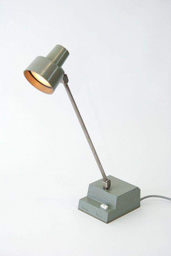 Lampe De Bureau Vintage En Metal Et Duroplast Panzer Med Billeder