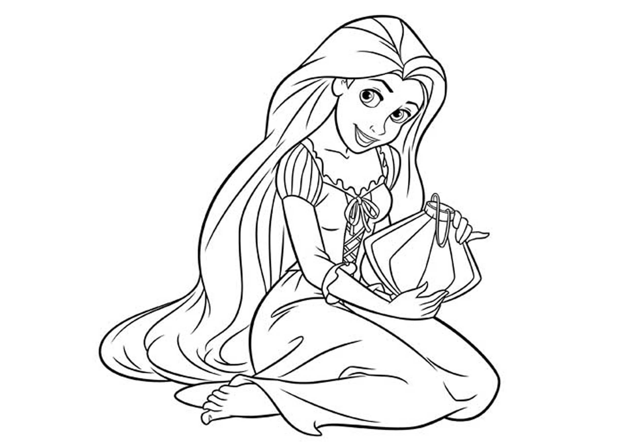 Disney Princess Coloring Pages Printable Free Through The Thousands Of Images O Rapunzel Coloring Pages Disney Princess Coloring Pages Tangled Coloring Pages