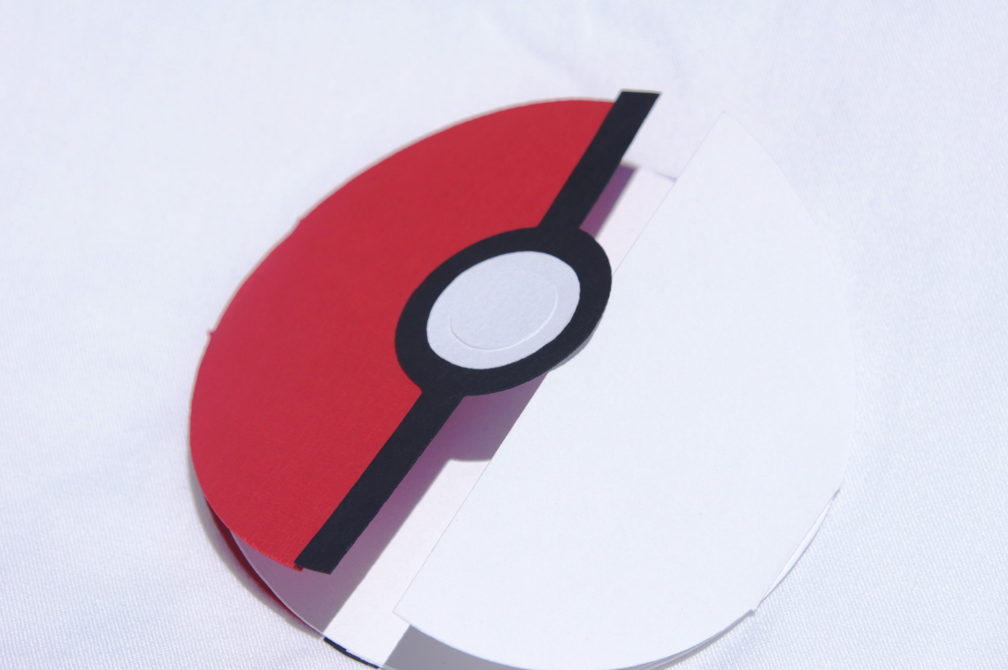 Center Opening Circular Card That Opens Like A Pokeball Inspired