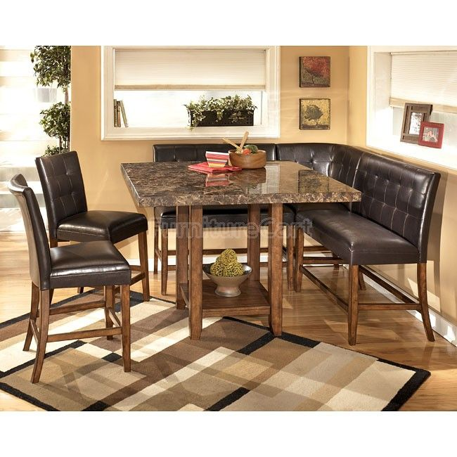 Lacey Corner Counter Height Dining Room Set Ashley Furniture Dining Dining Room Sets Granite Dining Table