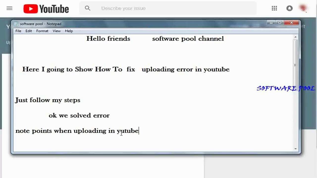 Youtube Video Uploading Error The Server Has Rejected The File How