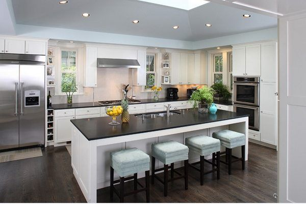 Inspirational Pictures of Contemporary Kitchen Island with Seating