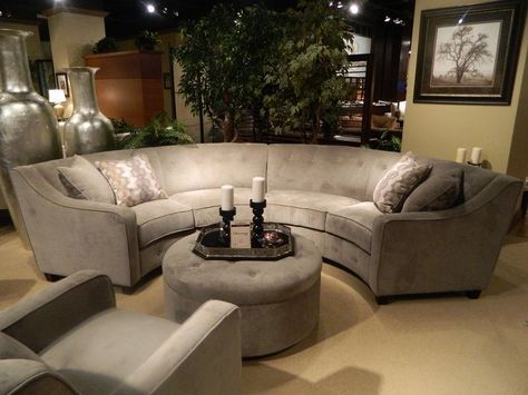 Keep Stylish And Stunning Only With A Piece Of Half Circle Couch Decorating Ideas Home Decor Ideas And Tips Round Couch Round Sofa Round Sectional