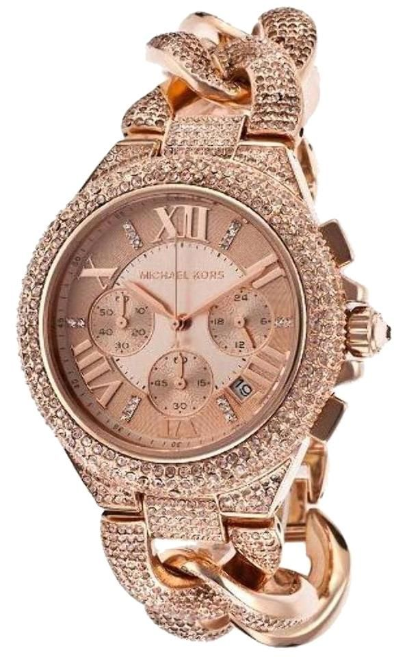 971d09c38fd5 Free shipping and guaranteed authenticity on MK3196 MICHAEL KORS WOMEN'S  CAMILLE SWAROVSKI CRYSTAL ROSE GOLD TONE WATCH at Tradesy. Rose gold-tone  ...