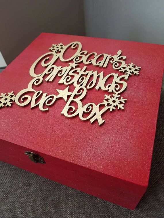 Christmas Eve box personalised Any colour by TaylormaedDesigns