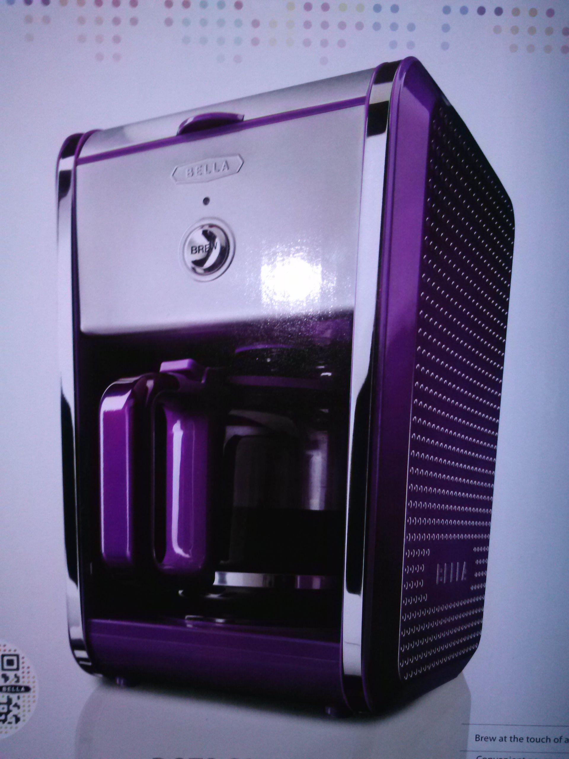 Bella Dots Purple Coffee Maker Purple Pinterest Coffee maker, Coffee and Purple stuff