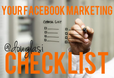 Here is some advice I know I'm going to be implementing Tuesday (my Facebook marketing day). Your 2013 Facebook Marketing Checklist