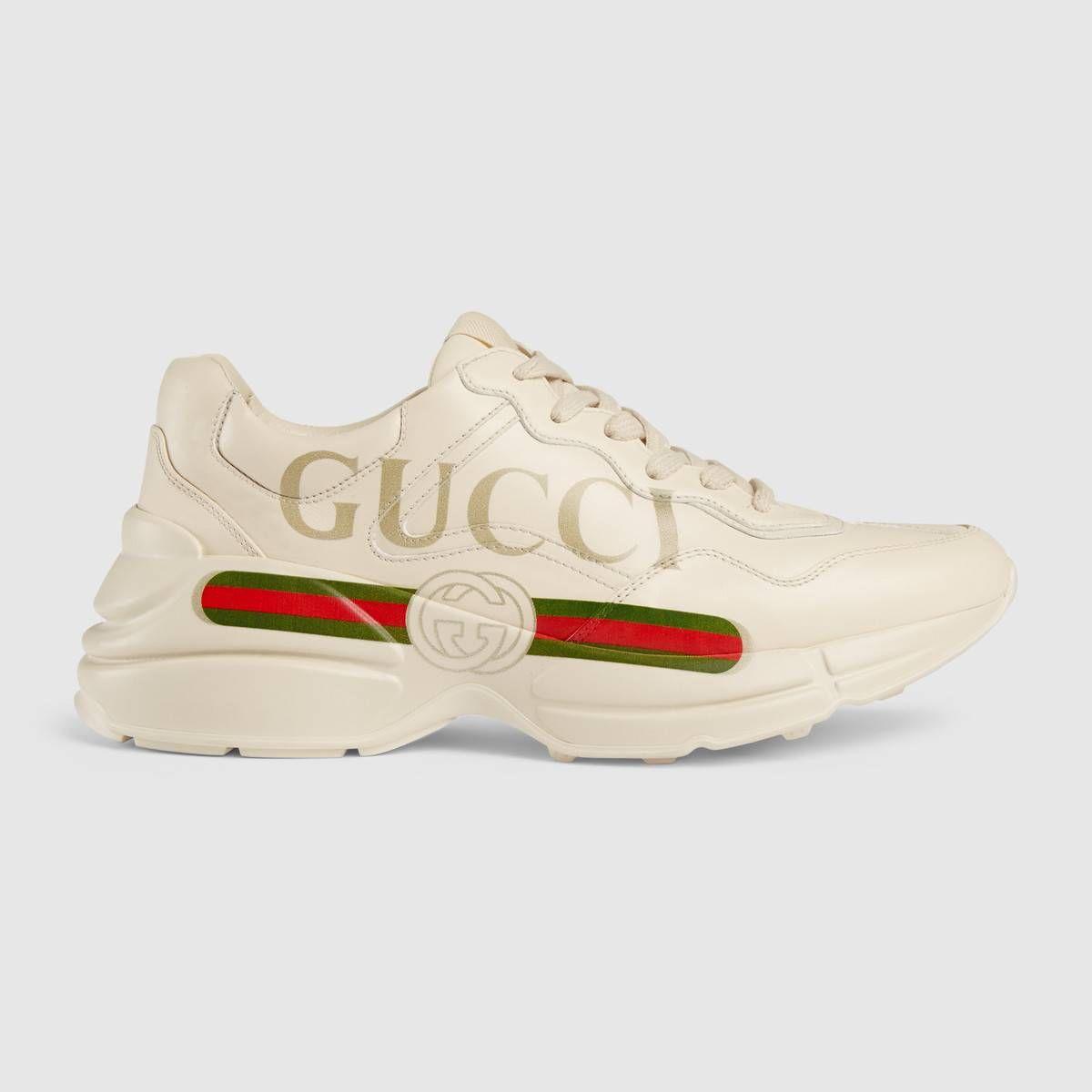 Gucci Women S Rhyton Gucci Logo Leather Sneaker Gucci Shoes Sneakers Gucci Sneakers Outfit Sneakers Fashion
