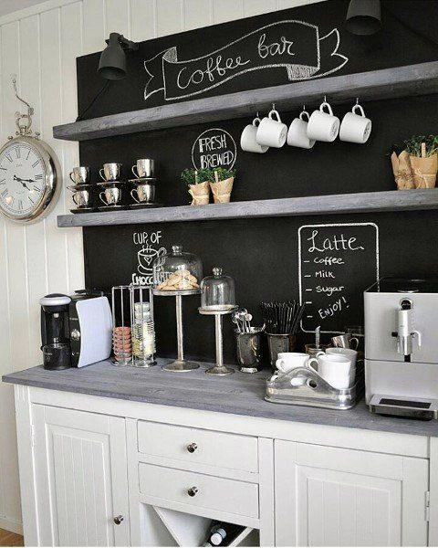 Top 60 besten Kaffee-Bar-Ideen – Coole persönliche Java Cafe Designs - Mann Stil | Tattoo