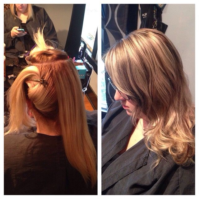 #rooted #baliage #lowlights #colorcorrection I created on my client ;)