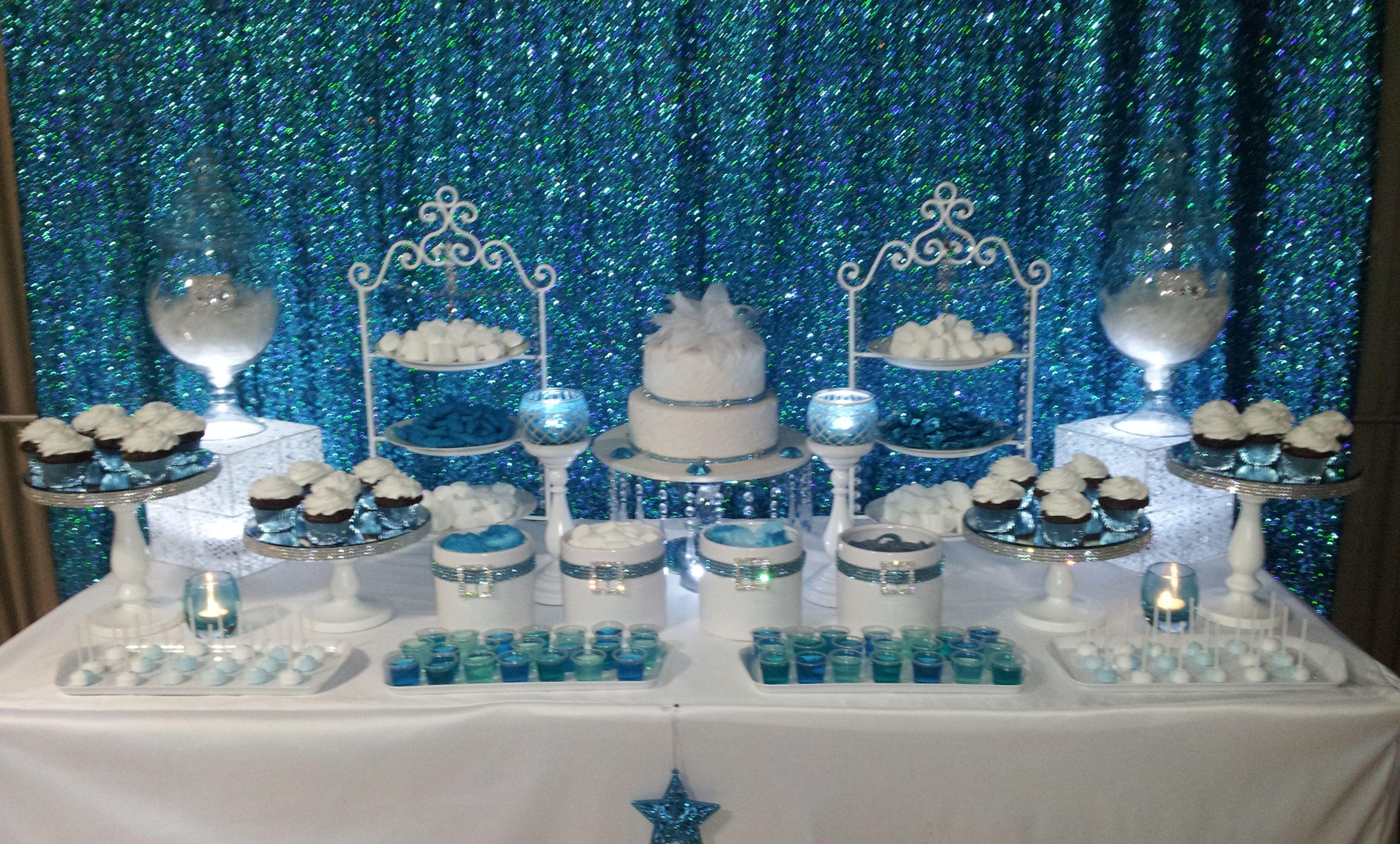 Winter Wonderland Candy Buffet Sweet 16th Birthday Wonderland Party Decorations Frozen Party Decorations Wonderland Wedding Cake