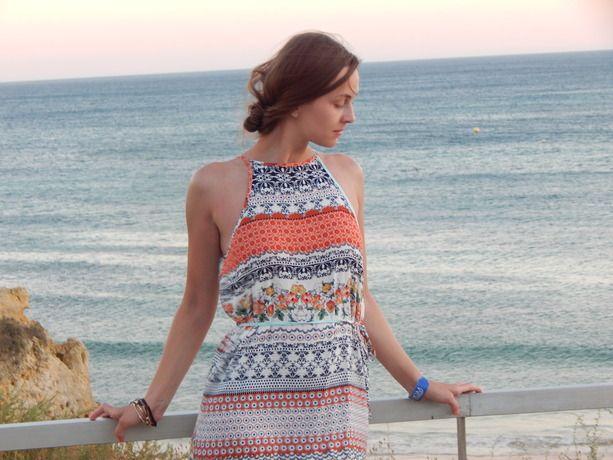 0d90608a13a9 Multicolor Vintage Print Split Maxi Dress -SheIn(Sheinside)