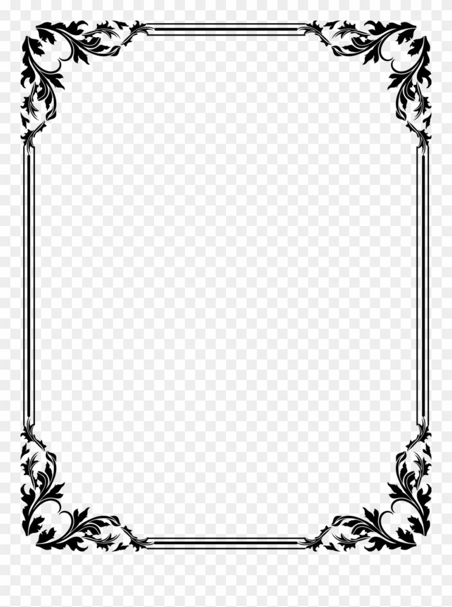 16 Black And White Border Png Page Borders Design Frame Border Design Butterfly Black And White