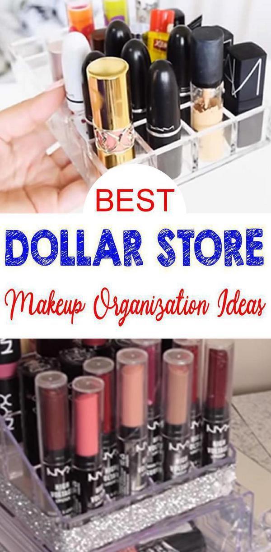 Dollar Tree Makeup Organization! BEST Dollar tree crafts