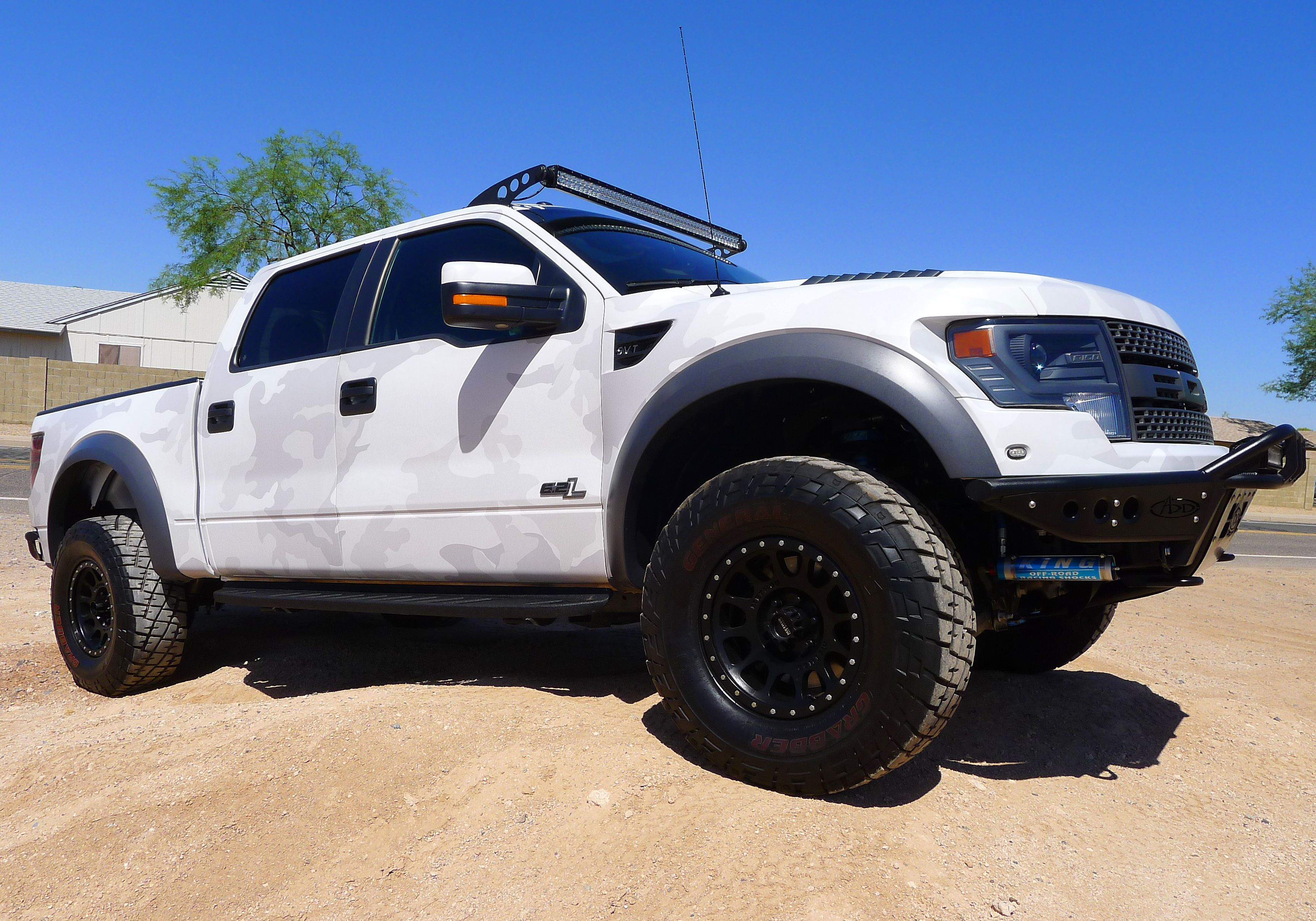 Lifted trucks sick camo ford f 150 svt raptor off road racing suspension