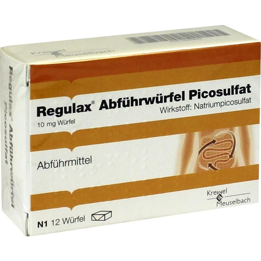 REGULAX Abführwürfel Picosulfat:   Packungsinhalt: 12 St Würfel PZN: 03390645 Hersteller: Krewel Meuselbach GmbH Preis: 3,29 EUR inkl. 19…