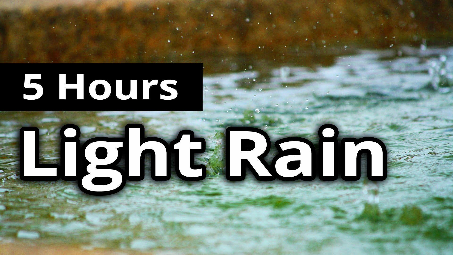 ASMR Rain  Delicate Light RAIN for  HOURS  Sleep Sounds