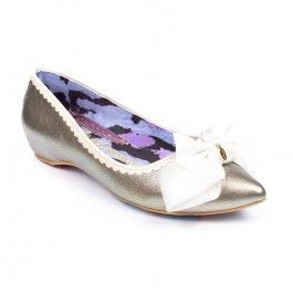 Mint Slice Irregular Choice Mint Slice - Pretty in pink, your tootsies will be blushing with joy when they slip into a pair of these sparkling pink slip on flats, a perfect evening slipper or bridesmaid flat these pretty slip ons Come with a sweeping sole and grosgrain bow with gold trinket.FlatsGlitter upperGold IC trinketBow