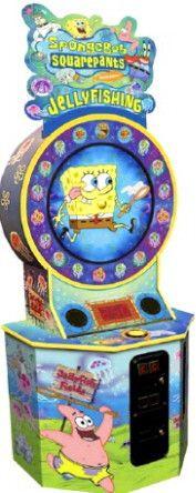 Spongebob squarepants jelly fishing arcade ticket for Arcade fishing games