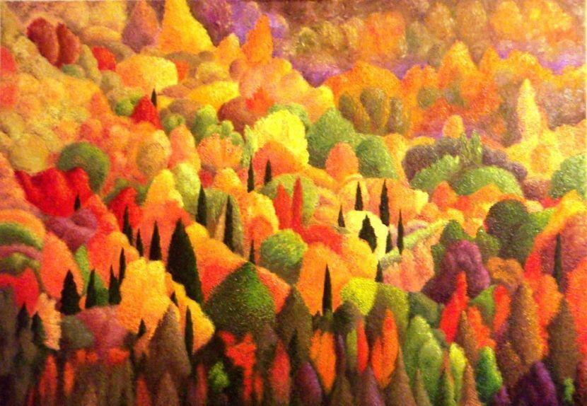 Lautunno dei pittori arte e attività manuali painting e art