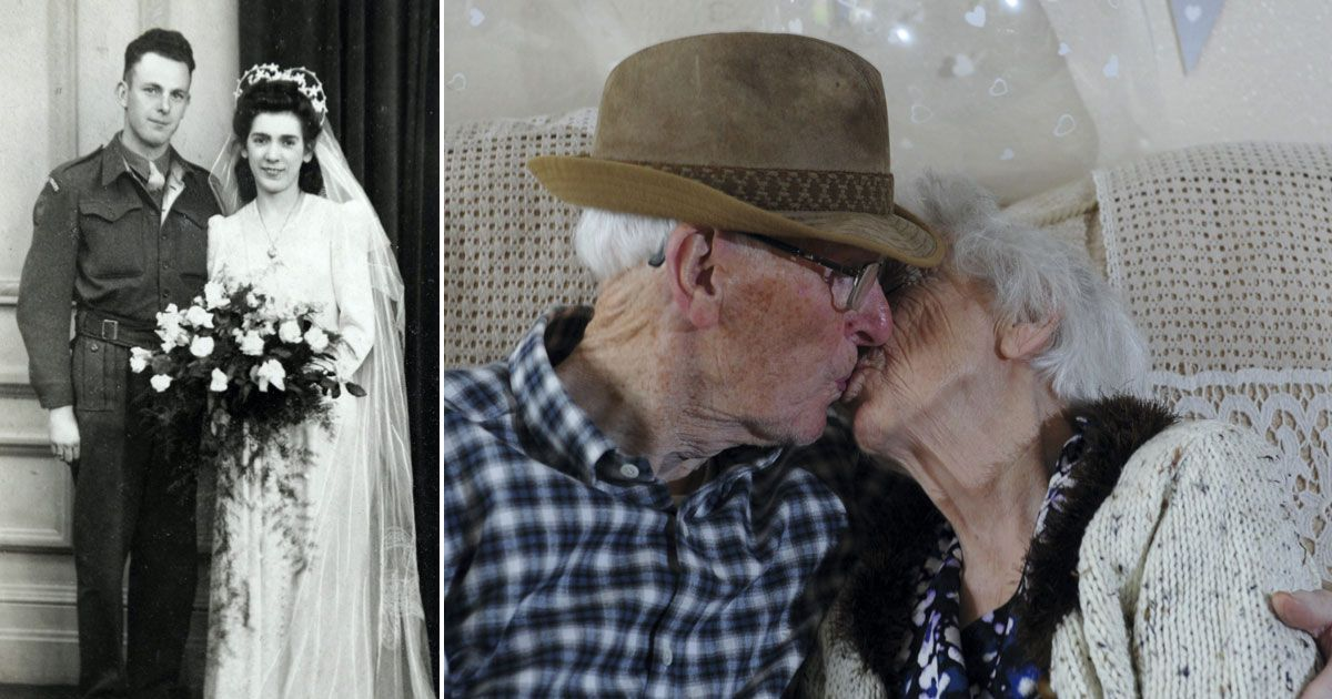 Elderly sweethearts together for 84 years reveal secret to