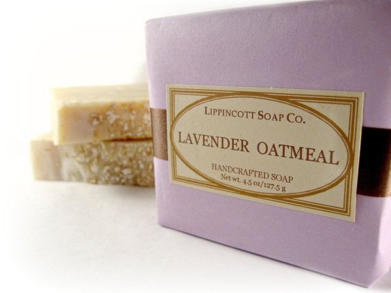"NEW LAVENDER SOAP!...""Lavender Oatmeal"" Cold Process Soap:"