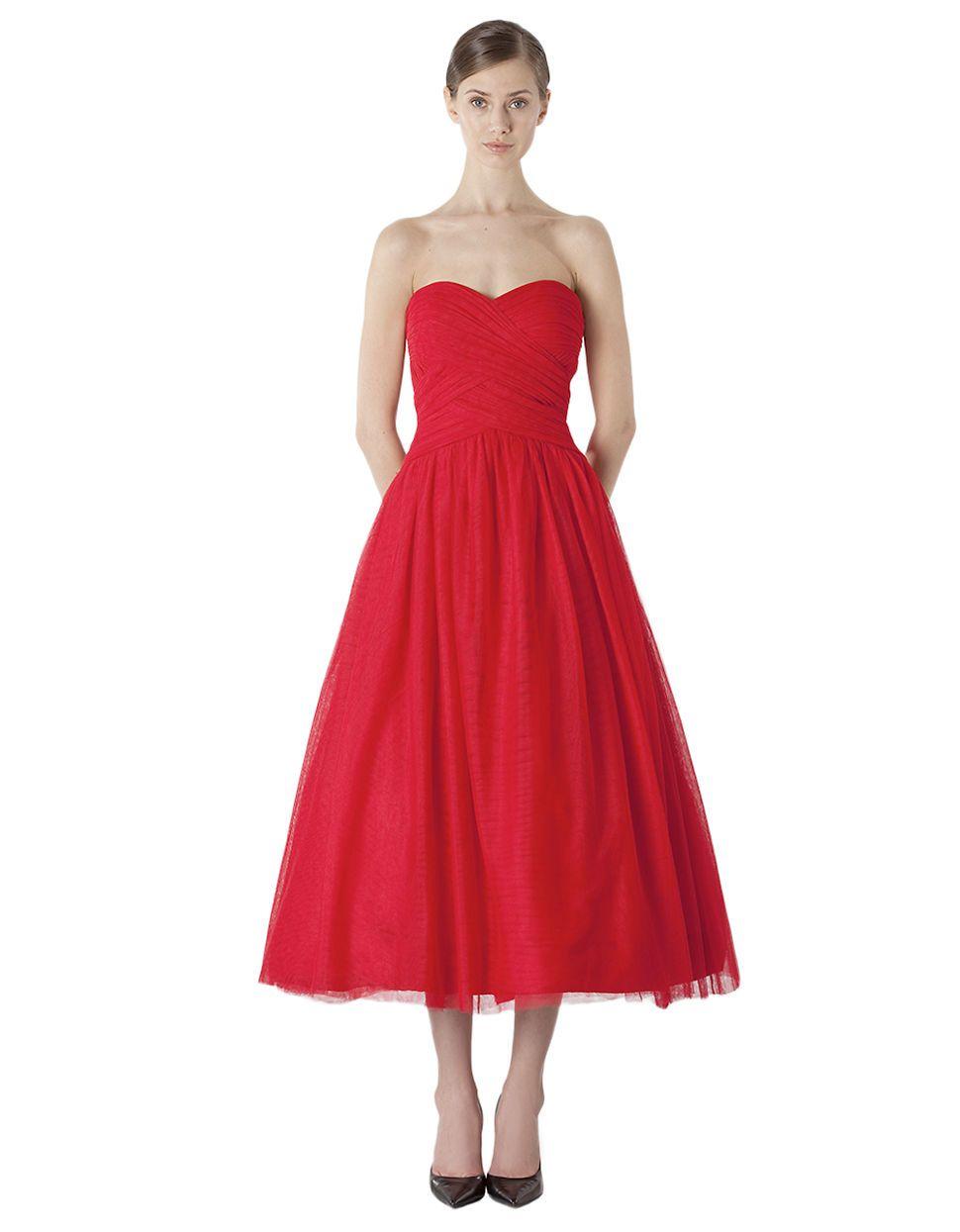 Women\'s Apparel | Formal/Evening | Strapless Sweetheart Tea-Length ...