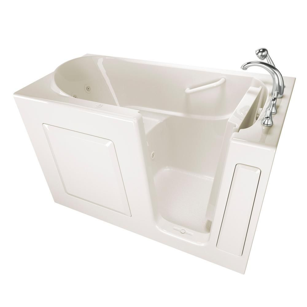 Safety Tubs Value Series 60 in. x 30 in. Walk-In Whirlpool Tub in ...