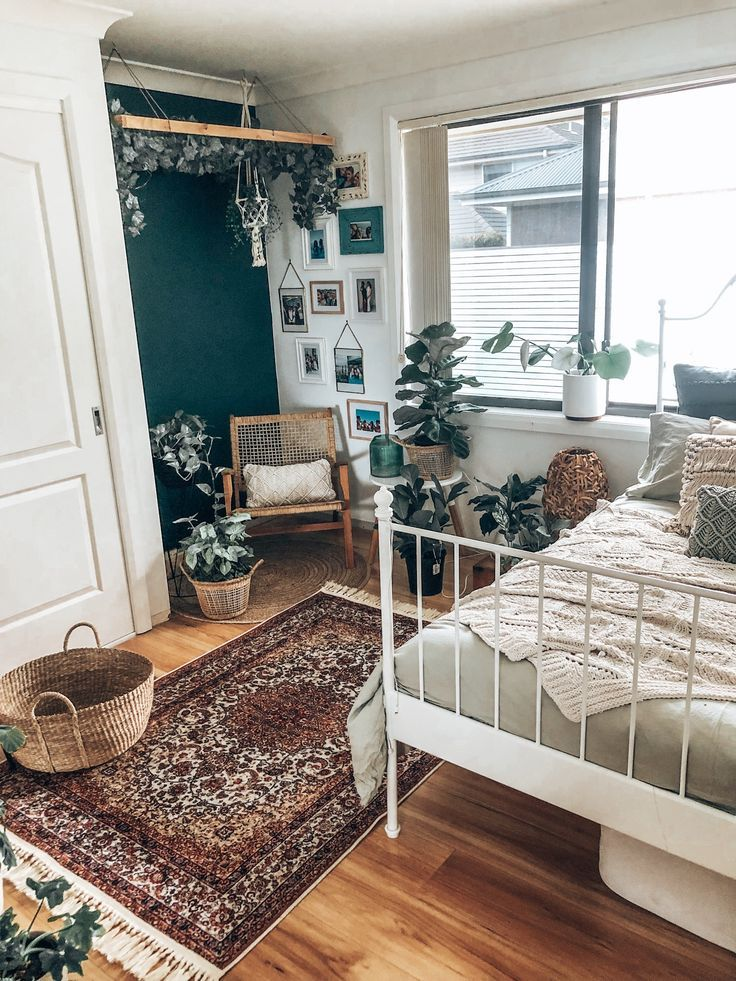 Bohemian Style Homes Vintage Decor Light and Airy Design Home Accessories Book Shelves Art Photos Warmth and Love Wood and Natural Earth Tones Earthy Vibes Nature and Pla...