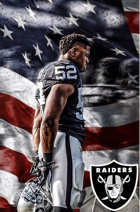 1c85a06cea Kahlil Mack Oakland Raiders Los Angeles Raiders Silver and Black ...