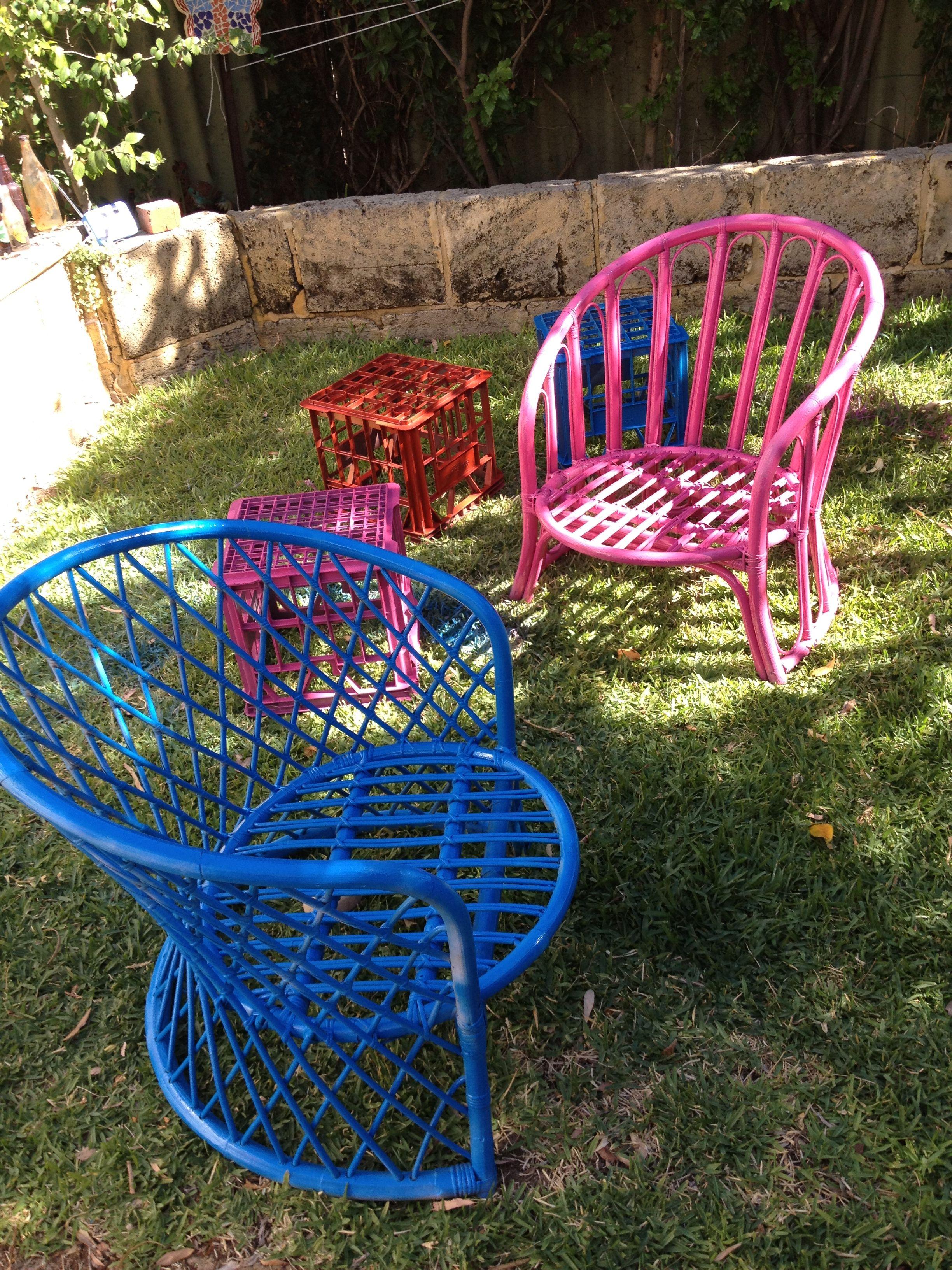 Coloured Cane Furniture