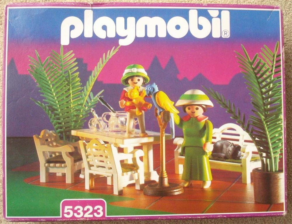 Playmobil Victorian Mansion Patio Set 5323 Factory Sealed Box 1995 #PLAYMOBIL