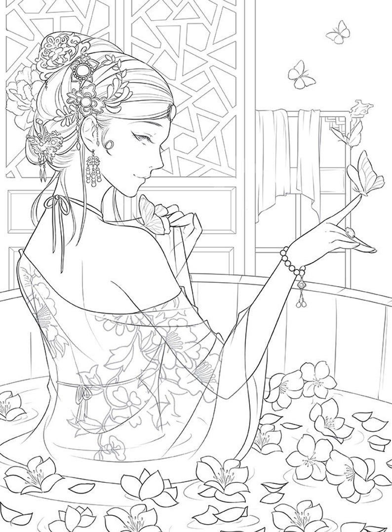 New The Imperial Palace Chinese Coloring Book Chinese Ancient Beauty Coloring Book Coloring Books Cute Coloring Pages Coloring Pictures