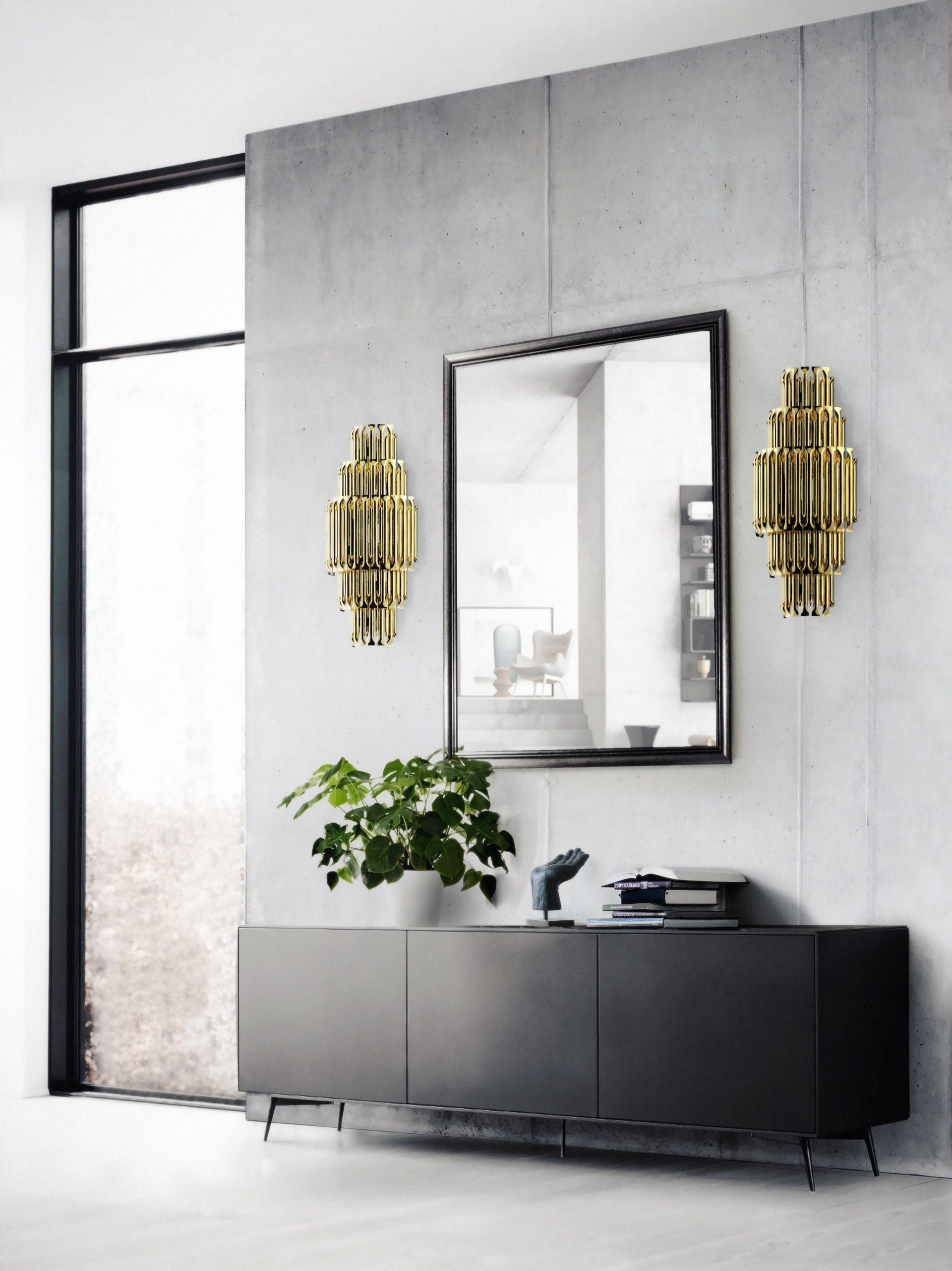 Elegant A Striking Design Featuring The Matheny Wall Lamps By