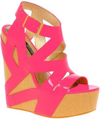 d6394485137 ShopStyle: Senso Santana Neon Mega Platform Wedges | Wedge Me ...