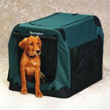 Remington Soft-Sided Collapsible Dog Kennel - my dog's cozy home!