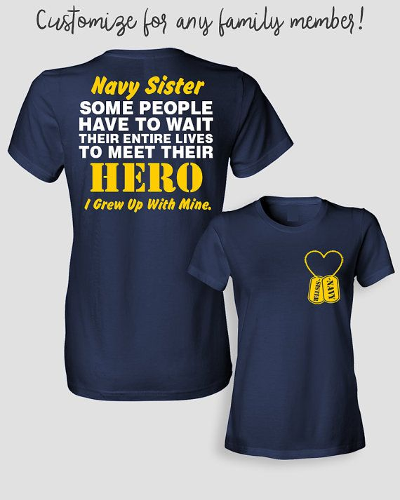 4d07f442 Navy Sister Shirt Some People Have To Wait Their by ShirtMakers ...