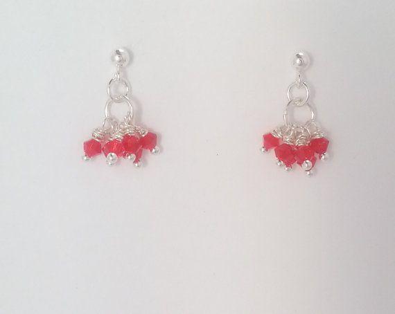 Red Swarovski Kids Chandelier Earrings by MiAmorejewel on Etsy, $25.00