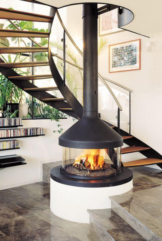 Chemin e design centrale meijifocus http www m for Cheminee interieur moderne
