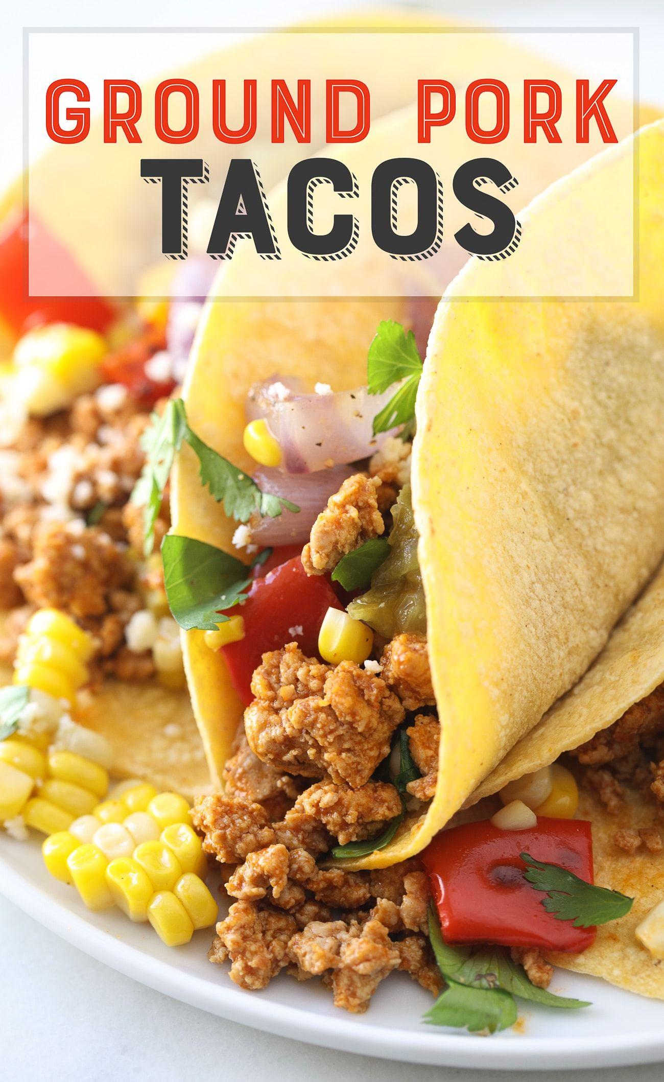 BEST Ground Pork Tacos Recipe! | freezer meals | Ground pork