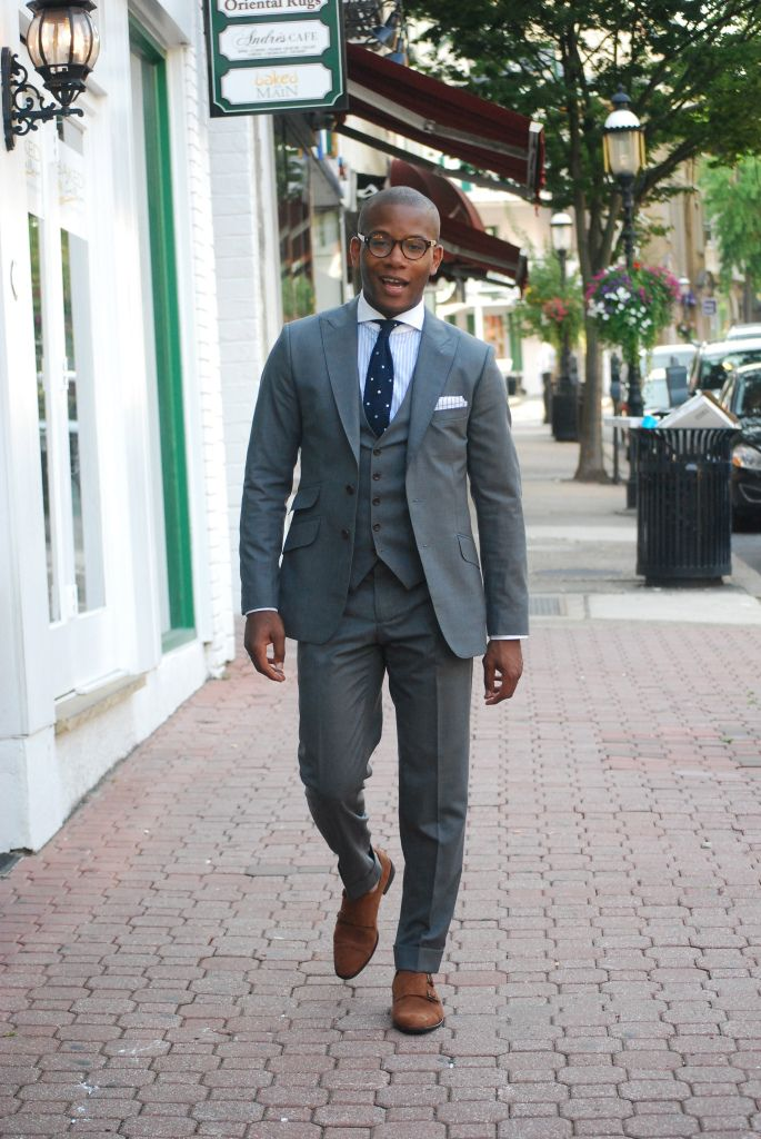 The Everyday Grey Suit by Sabir Peele | Three piece suits, Knit ...