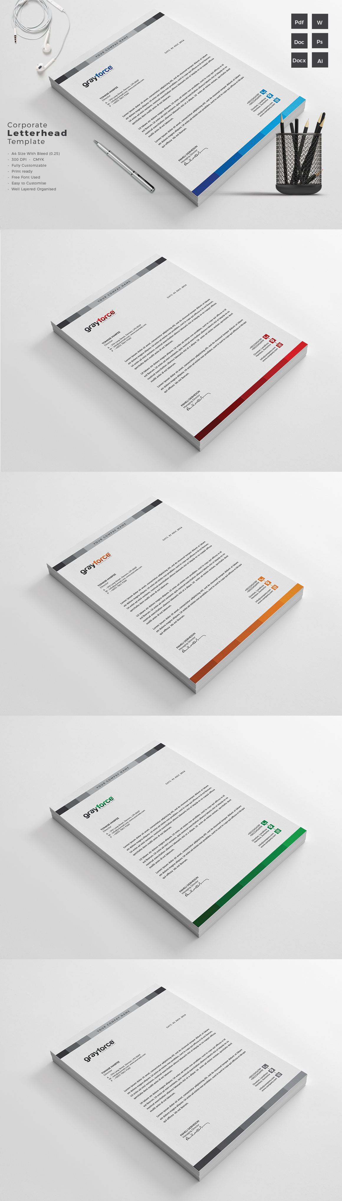 Letterhead Template Templates Vorlage Patterns Pin by