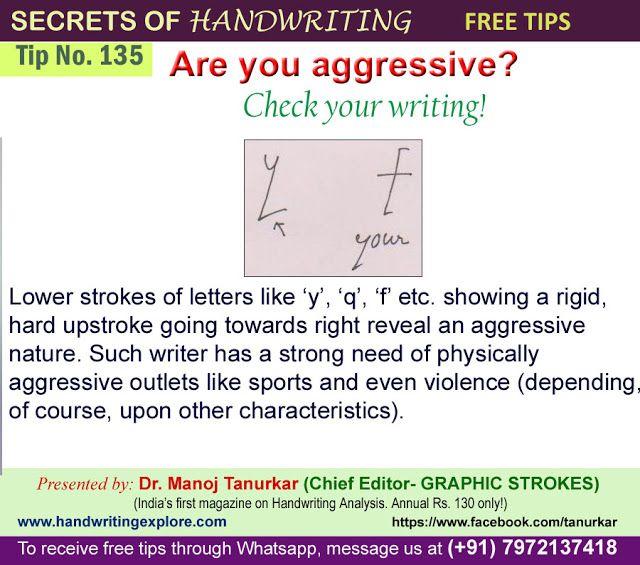 Handwriting Analysis Aggressive  Handwriting Analysis