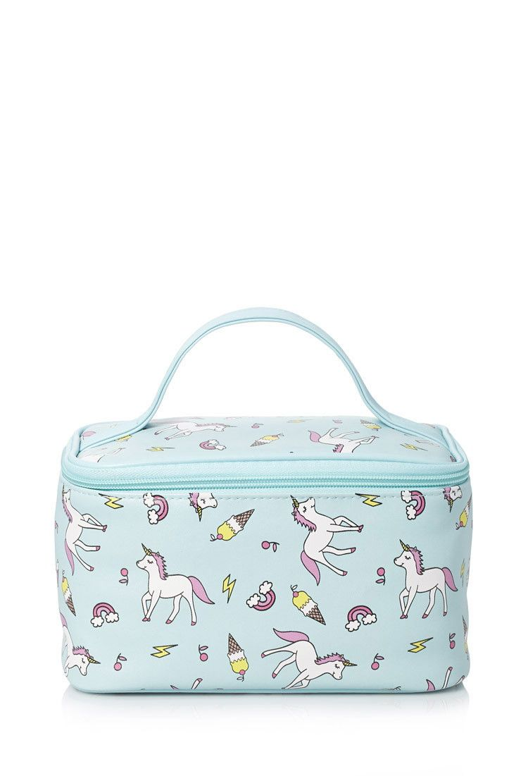 Unicorn Print Makeup Case Makeup Case Makeup Bag Unicorn Print